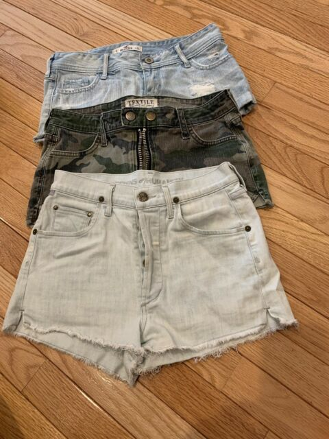3 Pairs Ladies Girls Shorts Hollister Citizens Of Humanity Jean Size 24 0