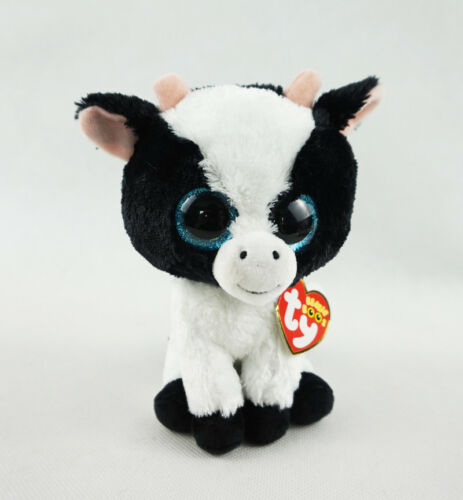 """6/"""" Ty Beanie Boos Butter the Cow Animals Plush Stuffed Toys Doll XMAS Gifts UK"""