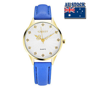 Fashion-Blue-Leather-Crystal-White-Dial-Quartz-Watch-Women-Lady-Wrist-Watch