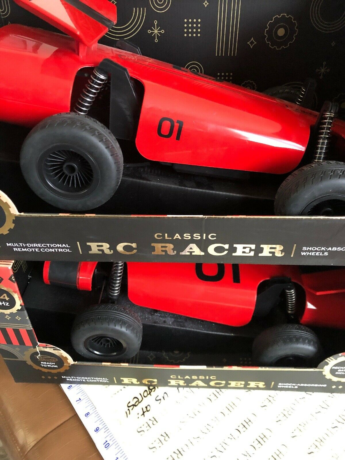 2X FAO Schwartz Classic RC Racer 2.4GHZ with Rechargable Battery Multi-Directio