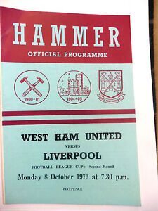 WEST-HAM-UNITED-V-LIVERPOOL-8-10-1973-FOOTBALL-LEAGUE-CUP-2ND-ROUND