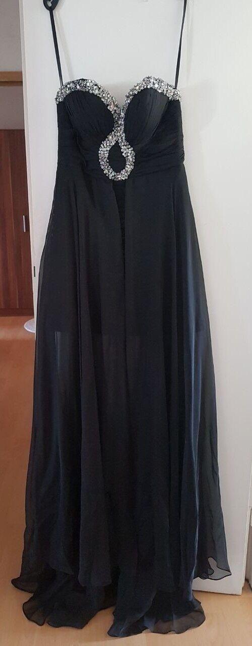 Kleid mit Schleppe schwarz, trägerlos - nur einmal getragen