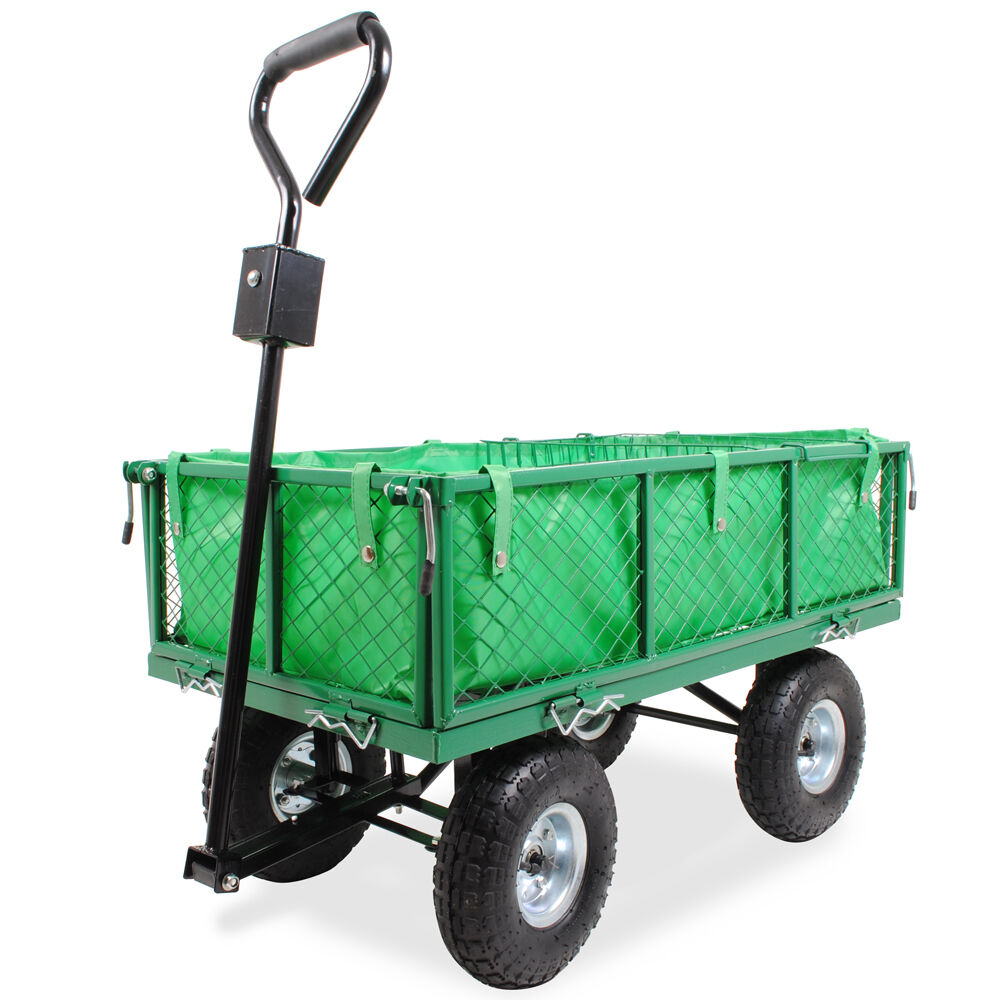 camping garden cart diy s itm allotment barrow truck wheel trolley home hand