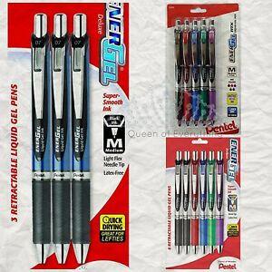 Pentel Energel Pens 20 Packs-- U Choose! 3,5,6,12 packs Black & Assorted US SHIP