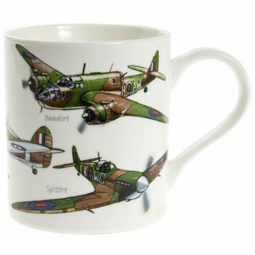 Boxed Gift NEW Spitfire Classic Planes Aeroplane Motive White Fine China Mug
