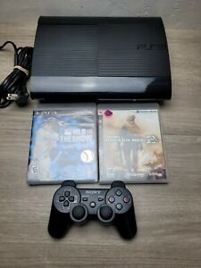 SONY PLAYSTATION PS3 SUPER SLIM CONSOLE CECH-4001B 250GB W/ CABLES & CONTROLLER