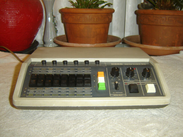 korg rhythm 55 kr 55 vintage 1979 analog drum machine with original footswitch for sale online. Black Bedroom Furniture Sets. Home Design Ideas