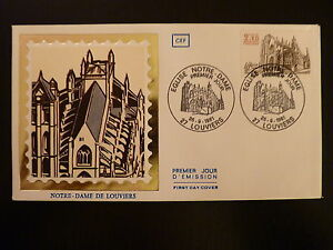Stamps Friendly France Premier Jour Fdc N° 2161 Cathedrale De Louviers 2,20f Louviers 1981 Making Things Convenient For Customers