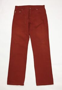 FDS-jeans-uomo-usato-gamba-dritta-w38-tg-52-rosso-denim-straight-boyfriend-T4055