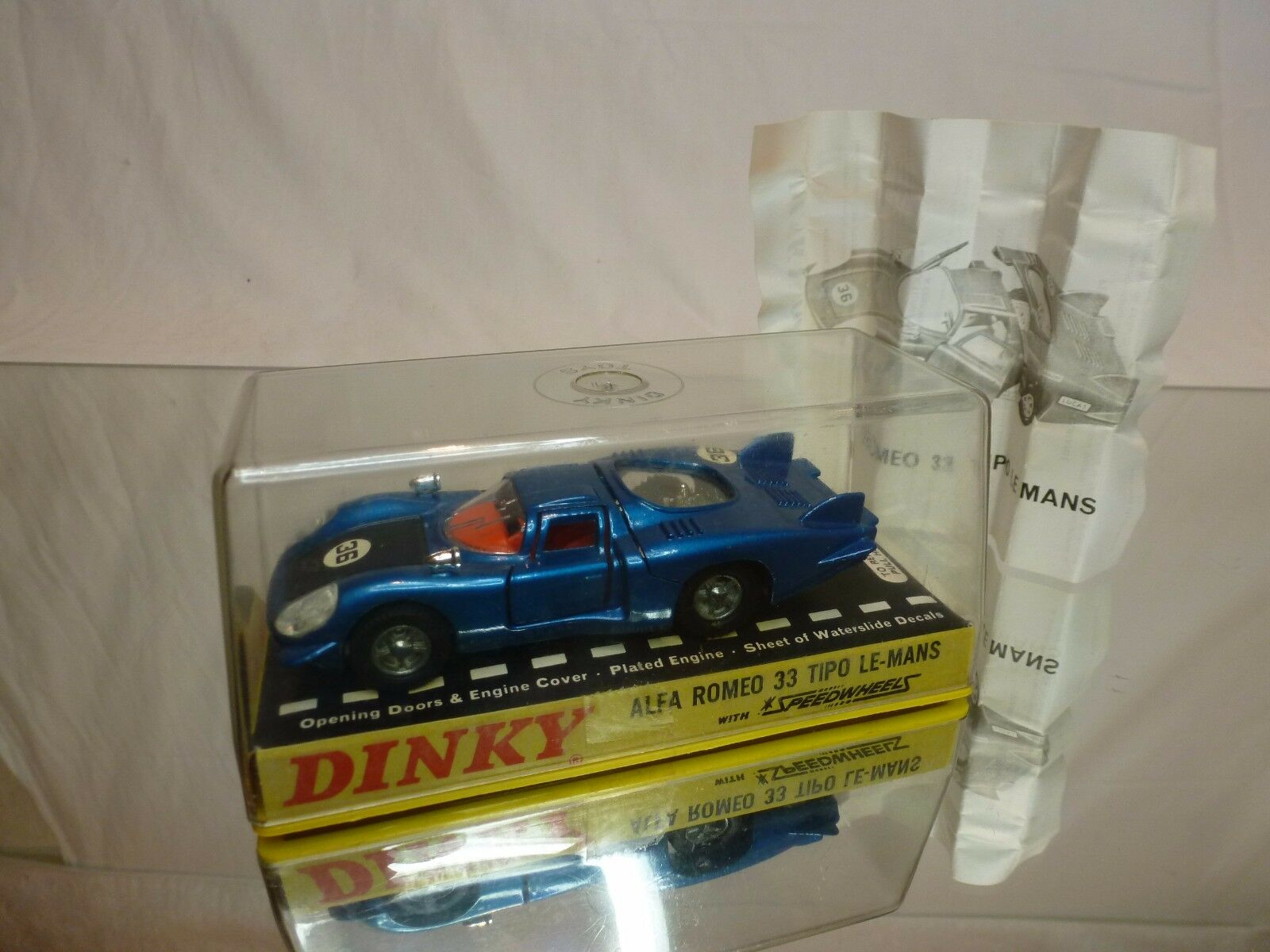 DINKY DINKY DINKY TOYS 210 ALFA ROMEO 33 TIPO LE MANS - blu 1:43 - EXCELLENT IN BOX e1c02a