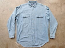 Polo Ralph Lauren Shirt Size M L Chambray Denim Western RRL Double RL
