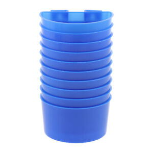 10 Pcs Pigeons Feeding Cups Bird Food Water Container Plastic Bowl for Cage