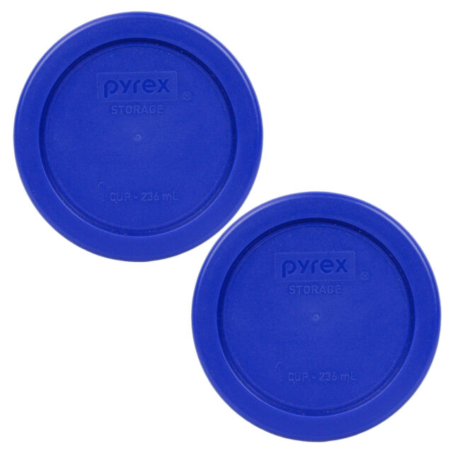 Pyrex 7202-PC Round 1 Cup Storage Lid for Glass Bowls 4, Cobalt Blue