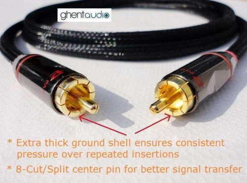 Audio Cable E04 5m 16.5ft ---Hi-End Canare Subwoofer 75Ω Coax RCA//Phono m//m