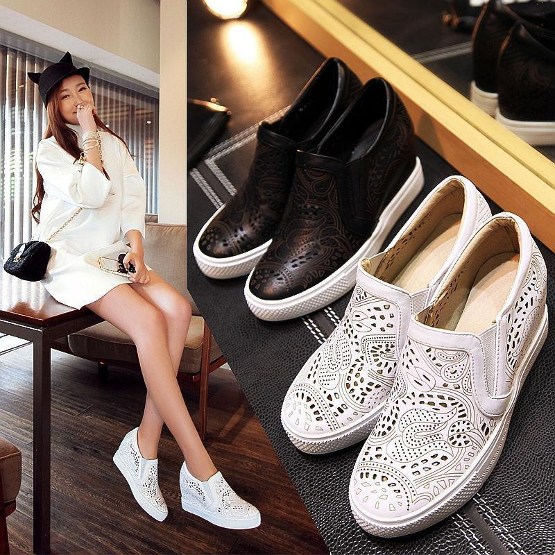 Women Hidden Wedge Heels Loafer Sneaker Sandals Platform Pumps Court shoes US Sz