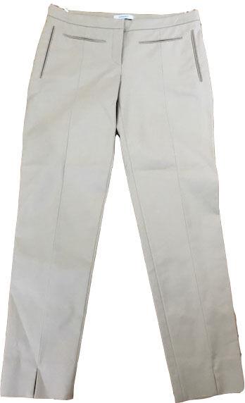 New VERSACE 42 6 pants slacks trousers cropped capris tan  couture ankle