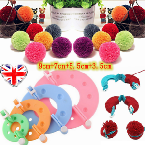 Pompom-Pom-Pom-Maker-Fluff-Ball-Weaver-Knitting-Needle-DIY-Tool-Kit-Bobble-Craft