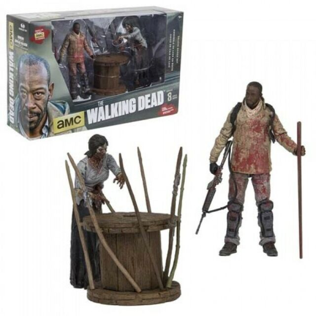 The Walking Dead TV Series Morgan and Impaled Walker Deluxe Action Figure Set