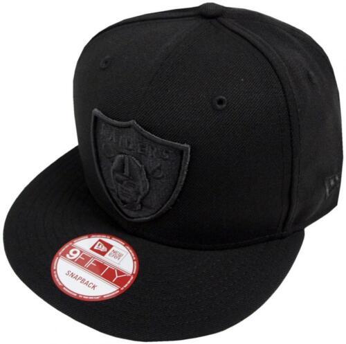 New era NFL oakland raiders Black on Black SnapBack cap 9 fifty Limited Edition