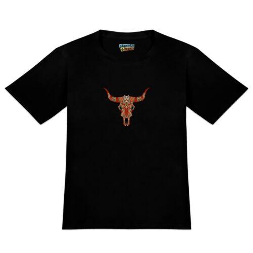 Bull Skull Day Of The Dead Men/'s Novelty T-Shirt