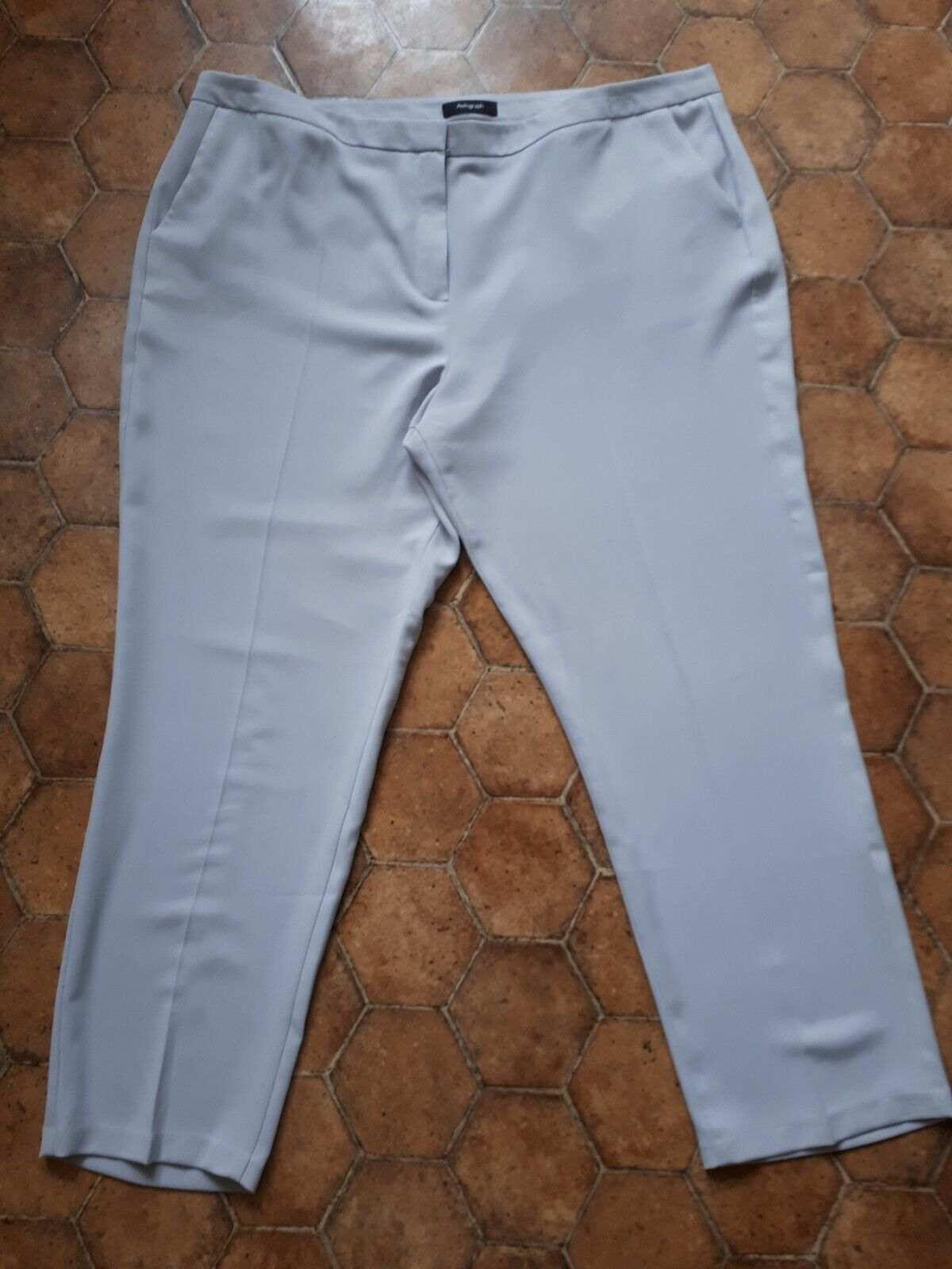 L5. Marks And Spencer Light bluee Grey Trousers Size 20 Smart Office Career