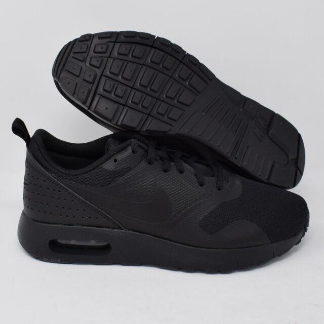 Nike Air Max Tavas 814443 005 Kids Running Shoes Black