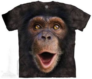 Happy-Chimp-T-Shirt-by-The-Mountain-Big-Face-Monkey-Sizes-S-5XL-NEW