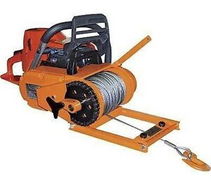 Image Is Loading WINCH Chainsaw Mounted 4000 Lb Cap Includes 150