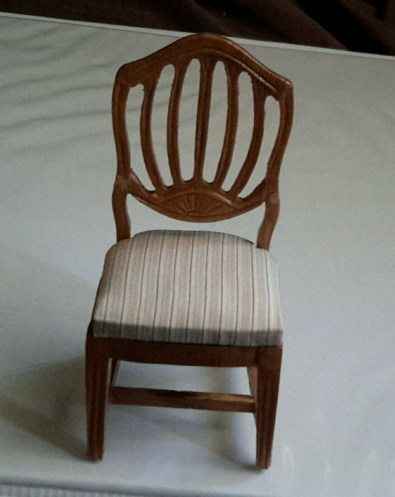 NEW Vintage Dollhouse Miniature DINING ROOM CHAIR Upholsterosso by Fantastic  2060