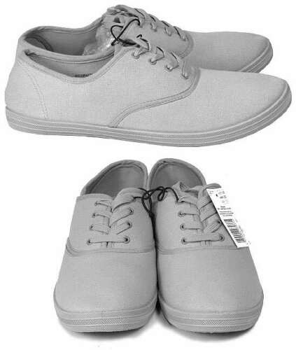 F/&F MEN/'S GREY CANVAS PUMPS DECK SUMMER BEACH SHOES BRAND NEW WITH TAGS SIZE 7