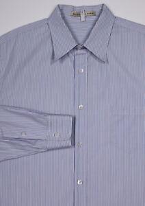 BALENCIAGA-Paris-Sky-Blue-Striped-Slim-Fit-Dress-Casual-Shirt-XL