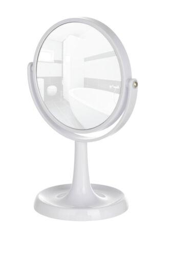 WENKO Kosmetik Standspiegel Rosolina Weiß Standspiegel Badezimmer Badaccessoires
