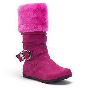 61f1b16ee Little Toddler Girls' Sweet Tall Fur Cuff Fashion Riding Dress Boots ...
