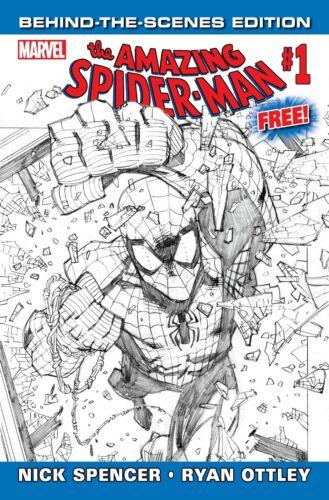 AMAZING SPIDERMAN 1 vol 5 GIVEAWAY PROMO BEHIND THE SCENES VARIANT NM
