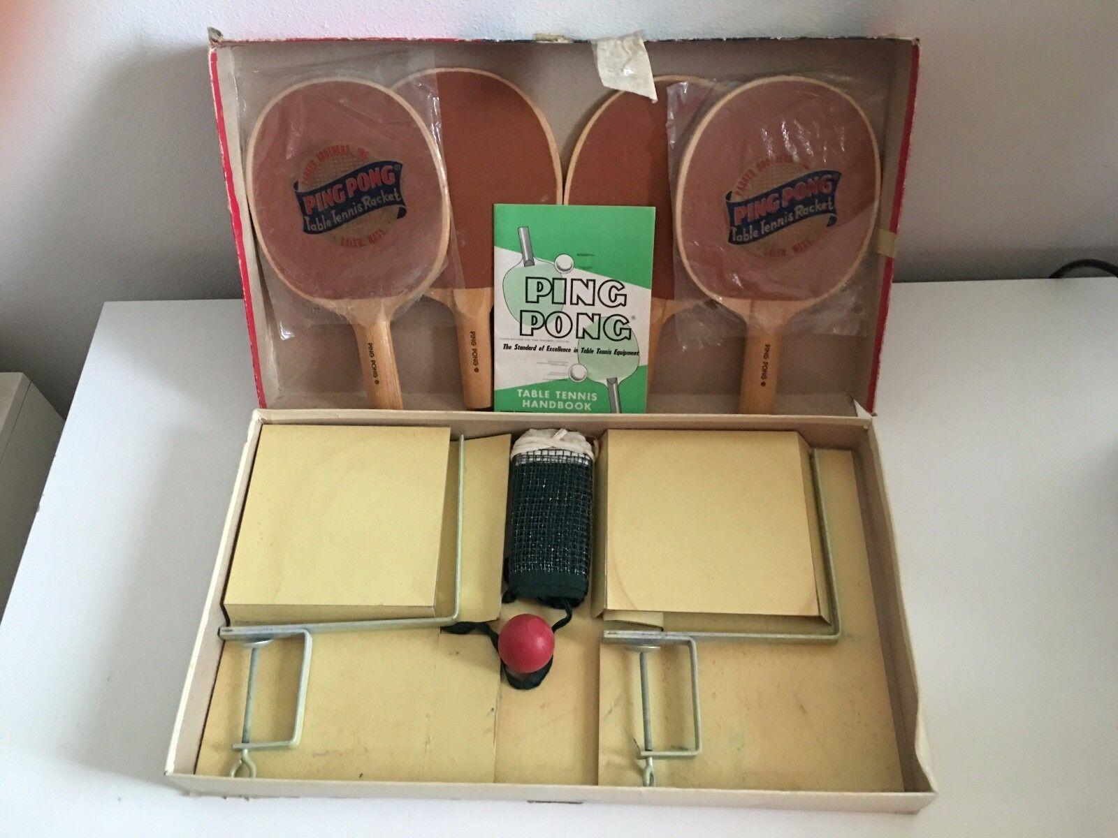 Ping Pong Parker Bredher Vintage Set Complete