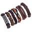 Fashion-Men-Women-Handmade-Genuine-Leather-Bracelet-Braided-Bangle-Wristband-Set miniatura 38