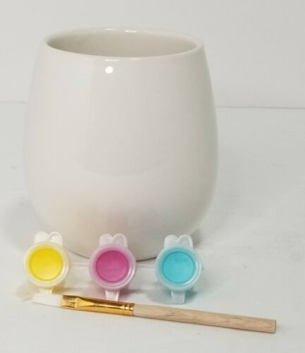 New ArtMinds Ceramic STEMLESS CUP Painting Kit art and craft