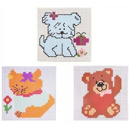 KIT Punto Croce Colorati assortiti Designs imparando l/'arte ricamo Stitch