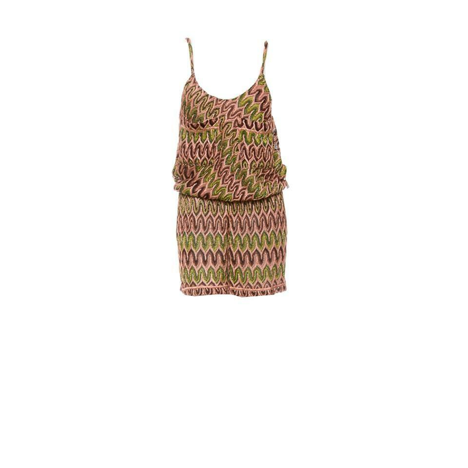 Brand New MISSONI Metallic gold Knit Romper US8 IT44