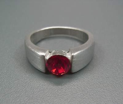 Ernst Neu 18mm/56 Ring 6mm Swarovski Stein Light Siam/rot Zinn Damenring Warmes Lob Von Kunden Zu Gewinnen