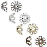 Lot of 1,000 Flower Spacer Bead End Caps Plated Brass Metal for 7mm-9mm Beads