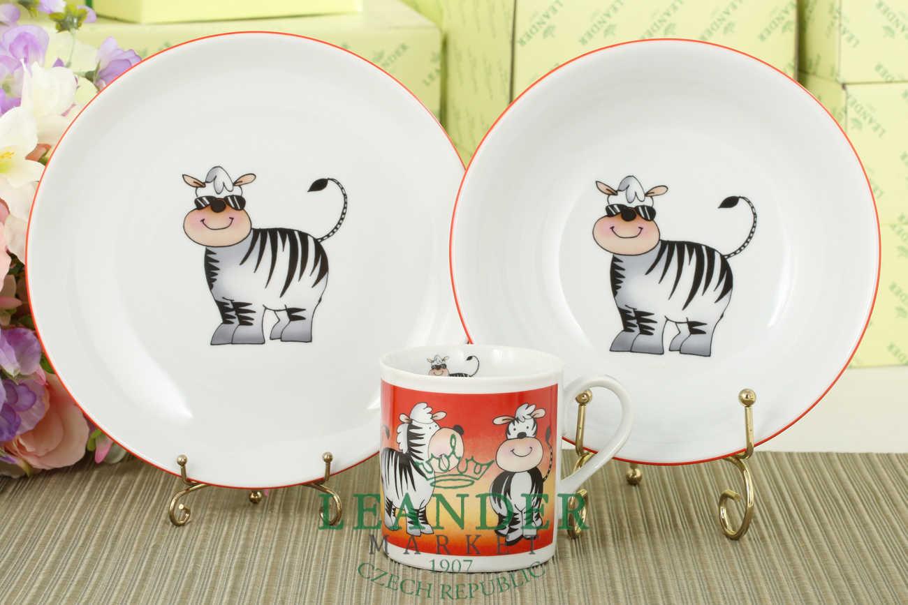 Zebra   Kids Dinnerware Plates and Mug Kit
