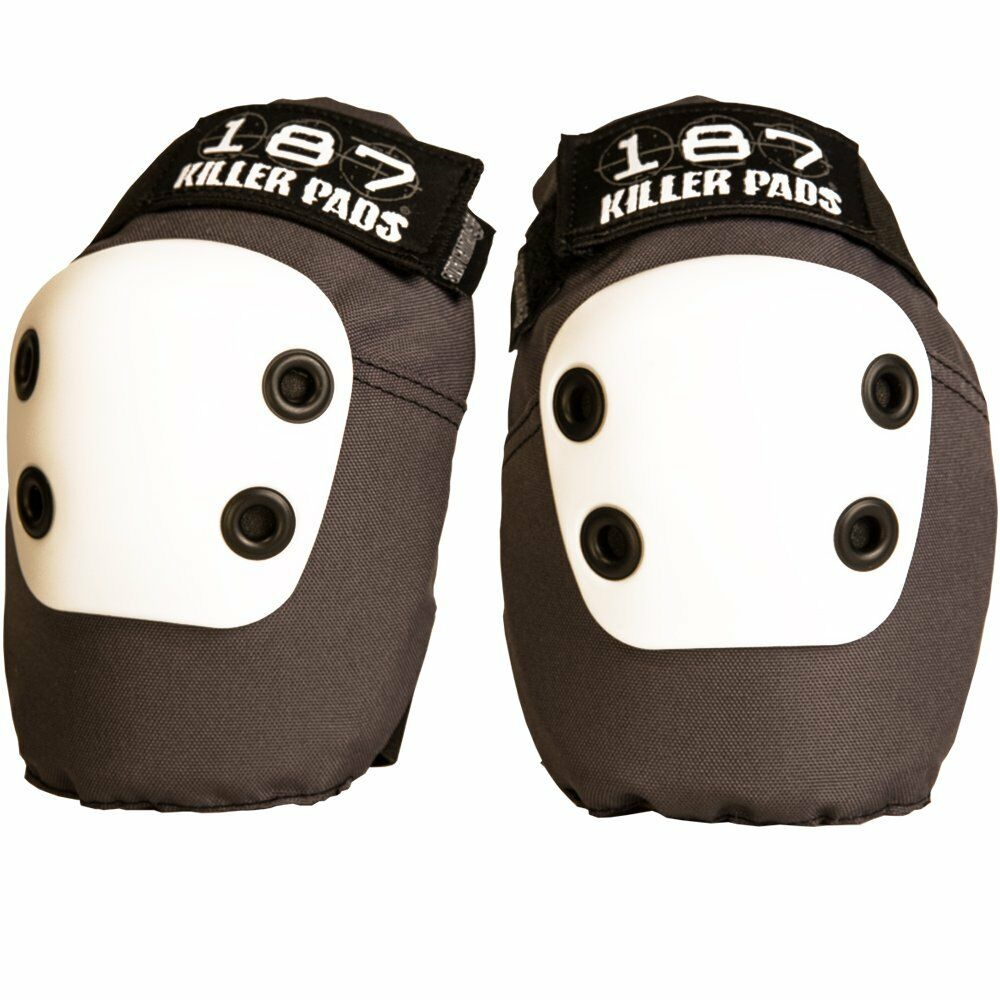 187 Killer Pads - grey SLIM Elbow Pads - ALL NEW DESIGN