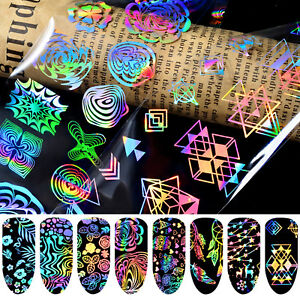 8-Sheets-Nail-Art-Transfer-Stickers-Laser-Star-Foil-3D-Decals-Nail-Art-Sticker