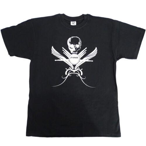 """Sonor Z9193 Drummer Schlagzeug T-Shirt /""""Skull/"""" Größe M Medium"""