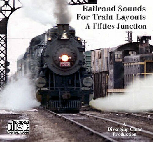 Train Sounds On CD - Steam and Diesel - Sounds for the layout or train room