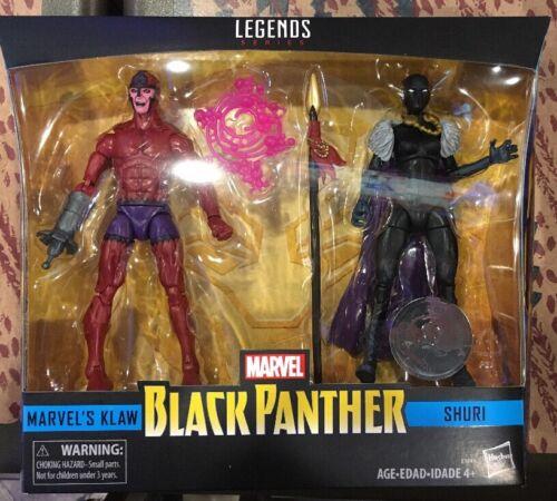"Marvel Legends 6/"" Black Panther MARVEL/'S KLAW+SHURI 2-Pack TRU Exclusive MIMB"