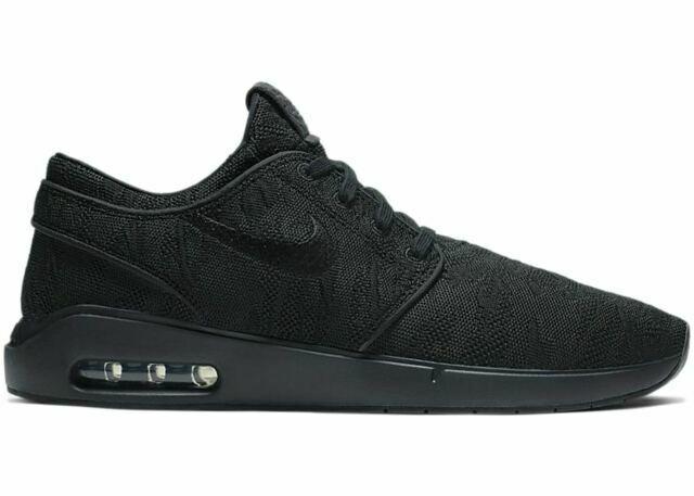 Size 7.5 - Nike SB Air Max Stefan Janoski 2 Black for sale online ...