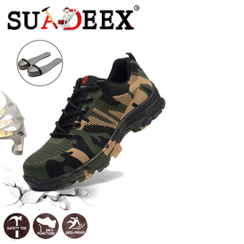 Arbeitsschuhe Leicht Stahlkappe S3 Sicherheitsschuhe Atmungsaktiv Sneaker Herren