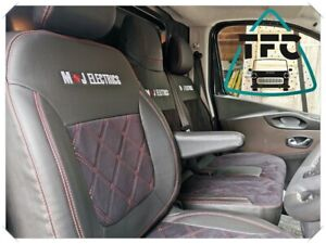 MERCEDES CITAN SEAT COVERS ECO LEATHER+ALCANTARA Bentley Stitching and 2logos
